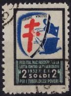 TBC - Tuberculosis - Charity Stamp LABEL CINDERELLA VIGNETTE - 1950 ITALY - Viribus Unitis Vnitis - Baby Cradle - Disease
