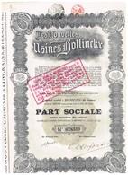 Action Ancienne - Les Nouvelles Usines Bollinckx - Titre De 1926 - Industrie