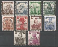 Deutsches Reich Deutschland Germany - Mi.588/97 Complete Set Used / Gebraucht - 1935, Mi: 65,00€ - Used Stamps