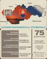 774/ Slovakia; P4. The Map Of The Slovakia, SC5, CN 00251 - Slowakije
