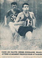 ATHLETISME : PHOTO, ABDESLAM RADI,  GASTON ROELANTS, CROSS INTERNATIONAL, GLASGOW, COUPURE REVUE (1960) - Athletics