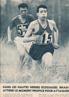 ATHLETISME : PHOTO, ABDESLAM RADI,  GASTON ROELANTS, CROSS INTERNATIONAL, GLASGOW, COUPURE REVUE (1960) - Athlétisme