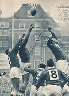 RUGBY : PHOTO, GALLES-FRANCE (8-16), ARM'S PARK, CARDIFF, LARRUE, ROQUES, TOURNOI DES 5 NATIONS, COUPURE REVUE (1960) - Rugby