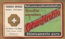 """637 """"COTONE IDROFILO FARMACIA OSPEDALE MARIA VITTORIA TORINO """"ETICH. ORIG - Altre Collezioni"""