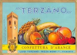 """638 """"CONFETTURE D'ARANCE TERZANO-NIZZA MONFERRATO """"ETICH. ORIG - Frutta E Verdura"""