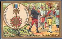 Chromo Chocolat Guerin-Boutron Décorations Françaises Et étrangères Ordre De La Couronne Siam 1869 - Guerin Boutron