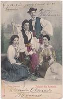 POSTCARD ROMANIA - PORTUL NATIONAL - SALUTARI DIN ROMANIA - Roumanie