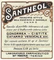 """639 """"SANTHEOL-PRINCIPIO ATTIVO DELL'ESSENZA DI SANDALO """"ETICH. ORIG - Andere Verzamelingen"""