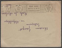 PARIS(A18415P):  PARIS XVIII P.P. (port Payé) Sur LSC De 1948 - Marcophilie (Lettres)