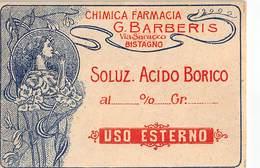 """648 """"SOLUZIONE ACIDO BORICO-CHIMICA FARMACIA G. BARBERIS """"ETICH. ORIG - Altre Collezioni"""
