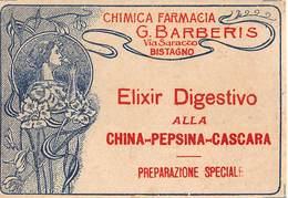 """649 """"ELIXIR DIGESTIVO ALLA CHINA-PEPSINA-CASCARA-CHIMICA FARMACIA G. BARBERIS """"ETICH. ORIG - Non Classificati"""
