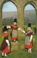 Postcard Welsh Folk Dancers In Authentic National Costume PU 1971 My Ref  B12107 - Dances