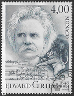 Monaco SG2149 1993 150th Birth Anniversary Of Edvard Grieg 4f Fine Used [37/30685/7D] - Monaco
