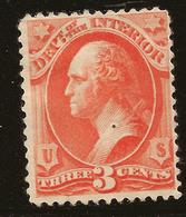 USA 1873 3c Vermilion Official SG O196 HM #AKH114 - Officials