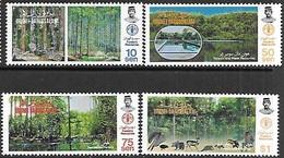 Brunei  1984   Sc#313-6   Forestry Resources Set MNH**   2016 Scott Value $17 - Brunei (1984-...)