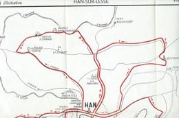 Han Sur Lesse Carte Reprenant 5 Promenades Du Syndicat D'initiative ( 40 Cm / 40 Cm ) Scan Incomplet - Cartes Géographiques