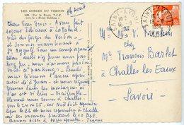 VAR CP 1952 ST AYGULF RECETTE DISTRIBUTION - 1921-1960: Moderne