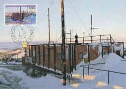 Carte  Maximum  1er  Jour   T.A.A.F   Agence  Postale  De  TERRE  ADELIE  2004 - Poste