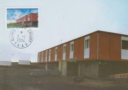 Carte  Maximum  1er  Jour   T.A.A.F   Agence  Postale  De  CROZET  2004 - Poste