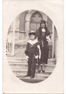 Fotokaart Carte Photo - Communion De Henri Carrein - Petit Marin à Cantin - 1932 - Personnages