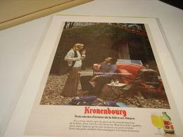 ANCIENNE PUBLICITE 3 SIECLE D AMOUR  BIERE KRONENBOURG 1965 - Alcoholes