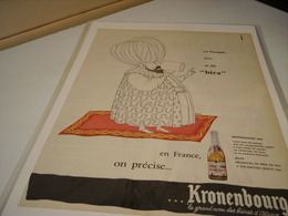 ANCIENNE AFFICHE PUBLICITE BIERE EN TURC KRONENBOURG 1975 - Alcohols