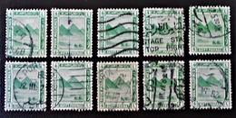 PROTECTORAT BRITANNIQUE - PYRAMIDE DE GIZEH 1922 - OBLITERES - YT 59 - VARIETES DE TEINTES ET D'OBLITERATIONS - Égypte