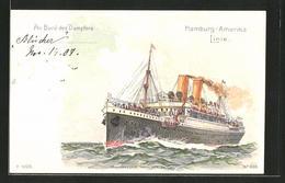 AK Passagierschiff Dampfer Blücher In Voller Fahrt - Steamers
