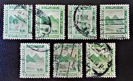 PROTECTORAT BRITANNIQUE - PYRAMIDE DE GIZEH 1922 - NEUF ** - YT 59 - VARIETES DE TEINTES ET D'OBLITERATIONS - 1915-1921 Protectorat Britannique