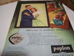 ANCIENNE AFFICHE PUBLICITE TISSUS NYLON DE NYLFRANCE 1958 - Publicités