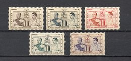 CAMBODGE N° 52 à 56  NEUFS AVEC CHARNIERES COTE 7.75€  ROI  REINE - Cambodia