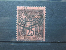 """VEND BEAU TIMBRE DE FRANCE N° 91 , CACHET OCTOGONAL """" RUE TAITBOUT """" !!! - 1876-1898 Sage (Type II)"""