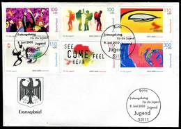 00808b) BRD - Mi 2117 / 2122 - FDC - EXPO2000, Jugend 00 - FDC: Brieven