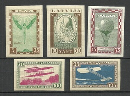 LETTLAND Latvia 1932 Michel 210 - 214 B * Da Vinci Zeppelin Etc - Lettonie