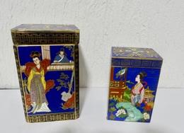 2 ANCIENNES BOITES EN CLOISONNE - Art Oriental