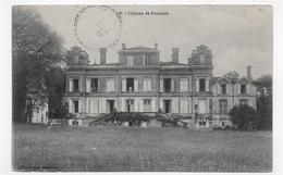(RECTO / VERSO) SAINT ETIENNE DE TULMONT EN 1911 - N° 8 - CHATEAU DE POUSINIÈS - BEAU CACHET - CPA VOYAGEE - Saint Etienne De Tulmont