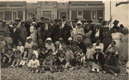 CARTE PHOTO SUR LA PLAGE DE CAYEUX EN 1921 - Cayeux Sur Mer