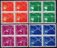 ACTION Zu 309-312 / Mi 568-569 / YT 517-520 100 Ans TELECOMMUNICATIONS 1952 Bbloc De 4 **/MNH SBK 32,- Voir Description - Suisse