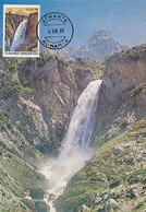 D33467 CARTE MAXIMUM CARD 1988 GREECE - WATERFALL CASCADE TZOUMERKA CP ORIGINAL - Geology