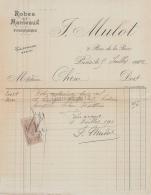 75 19 443 PARIS SEINE 1912 Robes Manteaux J. MULOT Rue De La Paix FOURRURES A CHENE - France