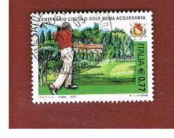 ITALIA REPUBBLICA  -  2003  GOLF   - USATO ° - 1946-.. République
