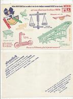 BUVARD , ALSA , Desserts , Chéque TINTIN , Alsastick , Savon LE CHAT  , Frais Fr 1.45 E - Buvards, Protège-cahiers Illustrés