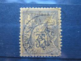 """VEND TIMBRE DE FRANCE N° 93a , CACHET """" PARIS - PL. DE LA MADELEINE """" !!! - 1876-1898 Sage (Type II)"""