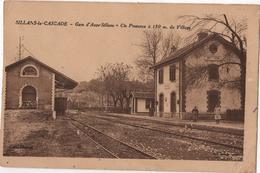 CPA 83 SILLANS La Cascade Gare D'Aups Train - Aups