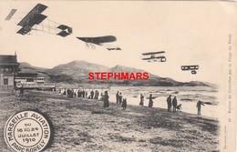 CPA 13 : N°10 - MARSEILLE - AVIATION PARC BORELY - RETOUR DE CROISIÈRE SUR LA PLAGE DU PRADO (FARMAN) - édition Baudouin - Airplanes