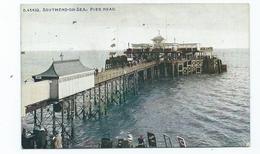 Essex Postcard Southend Pier Head . Celesque Series . Posted - Southend, Westcliff & Leigh