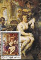 D33488 CARTE MAXIMUM CARD 1977 HUNGARY - BATHSEBA BY RUBENS - NUDE CP ORIGINAL - Nudes