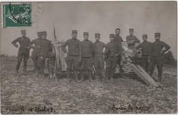 Carte Photo Militaria NIMES Artillerie Canon - Régiments