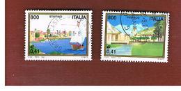 ITALIA REPUBBLICA  -  2001 TURISTICA: 2 VALORI STINTINO E PIORACO  - USATO ° - 1946-.. République