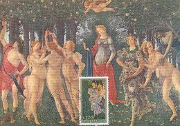 D33491 CARTE MAXIMUM CARD 1972 SAN MARINO - SPRING PRIMAVERA BY BOTTICELLI - NUDE CP ORIGINAL - Nudes